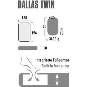 High Peak Dallas Twin Luftmadras, gul